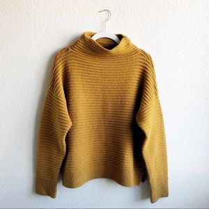[Madewell] Mock Neck Marigold Chunky Knit Sweater